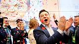 Ukraine president's party leads poll ahead of July election