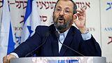 L'ancien Premier ministre israélien Ehud Barak lors d'une conférence de presse à Tel-Aviv le 26 juin 2019 pour annoncer la création d'un nouveau parti