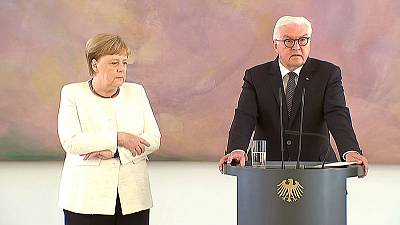 Merkel seen shaking for second time this month