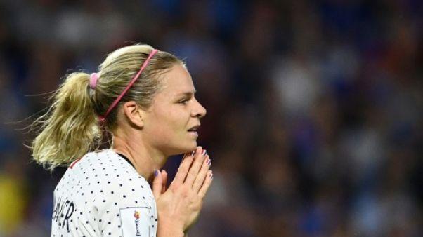 La Française Eugénie Le Sommer face au Brésil lors du Mondial-2019, le 23 juin 2019 au Havre