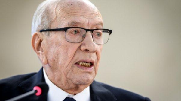 Le président tunisien Béji Caïd Essebsi à Genève, le 25 février 2019