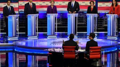 Le plateau du premier débat démocrate pour la présidentielle de 2020 à Miami, en Floride, le 26 juin 2019