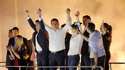 Istanbul's new mayor formally takes office - witness