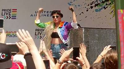 Lady Gaga fires up LGBTQ rally for Stonewall anniversary