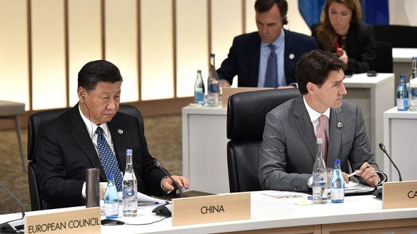 """أوتاوا: رئيس وزراء كندا ورئيس الصين يجريان مناقشات """"إيجابية"""" مع احتدام خلاف"""