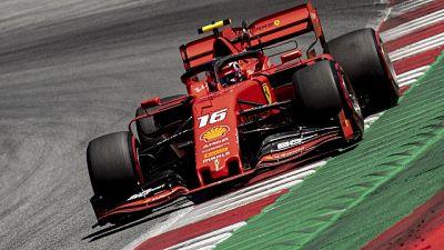 F1: Austria, Ferrari di Leclerc in pole