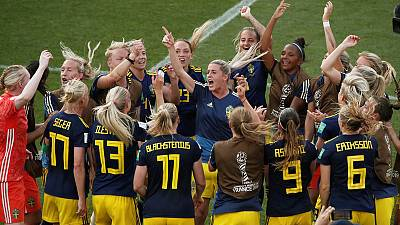 Sweden upset Germany to reach World Cup semis