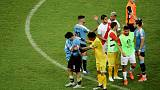 Uruguay crash out of Copa to Peru after Suarez misses in shootout