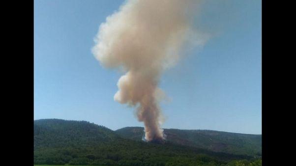 Incendio nel Senese, in arrivo Canadair