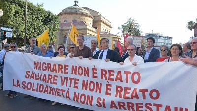 Sea watch: corteo solidarietà a Palermo