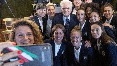 Mattarella riceve Nazionale femminile