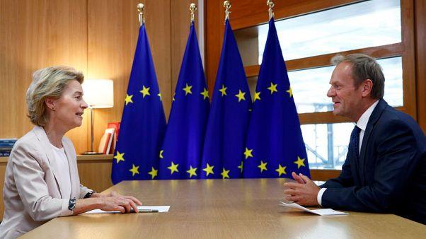 توسك يدعم فون دير لاين لرئاسة المفوضية الأوروبية