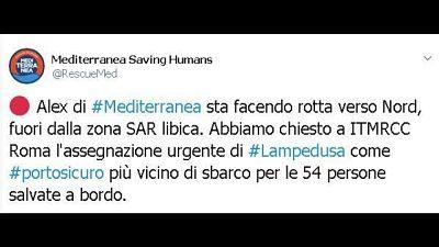 Mediterranea chiede attracco a Lampedusa