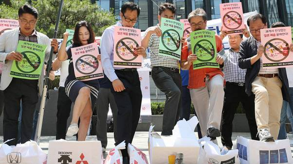 Calls for boycott of Japan grow in South Korea as labour row simmers