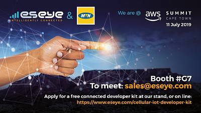 Eseye, MTN and SolarNow to present the easiest way to deploy cellular IoT at Amazon Web Services (AWS) Summit