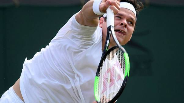 Raonic outserves Opelka in battle of the big men