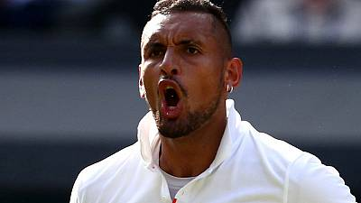 Giggling Kyrgios shows softer side after mixed exit