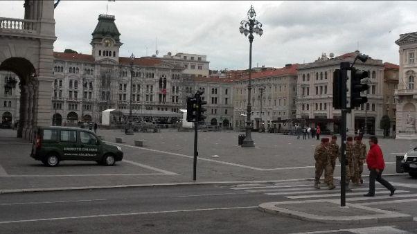 Sicurezza: Esercito in centro a Trieste