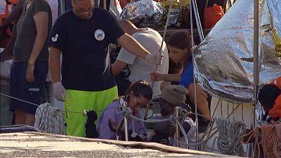 Migrant rescue boat docks at Italy's Lampedusa port