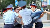 Dozens of protesters arrested at rallies on Kazakh leader's birthday