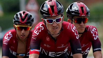 Cycling: Reigning champion Thomas suffers early Tour scare