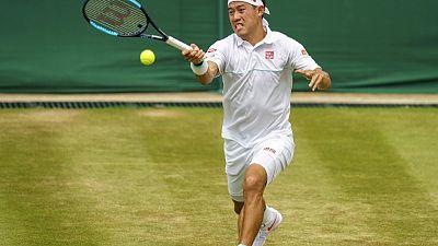 Nishikori racks up milestones at Wimbledon