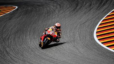 Motogp, Germania,a Marquez anche warm up