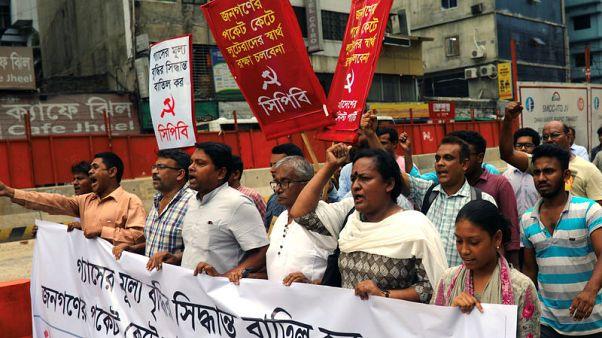 احتجاج في بنجلادش على رفع الحكومة لأسعار الغاز الطبيعي