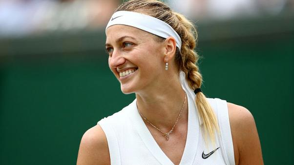 Unstoppable Kvitova faces Konta test in Wimbledon fourth round