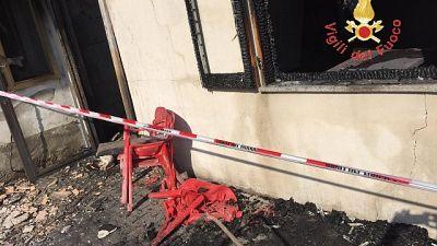 Incendio in palazzina nel Varesotto