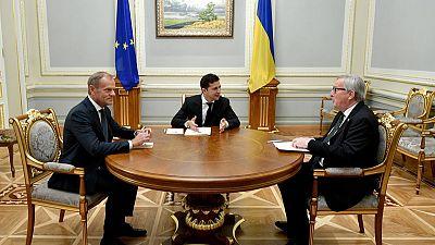 Top EU officials visit Kiev, pledge more aid for war-torn east Ukraine