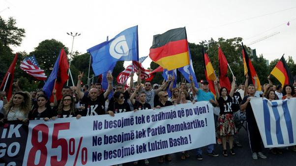 Albanian opposition resume protest to oust PM