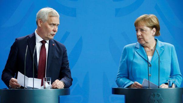Merkel seen shaking for third time in weeks - Reuters TV