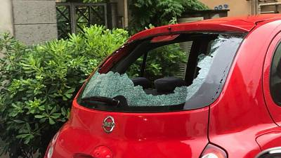 Violenta grandinata a Pescara, feriti