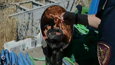 Centrale riciclaggio, sequestro 7 t rame