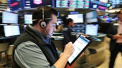Wall Street stocks climb, dollar drops on rate-cut optimism