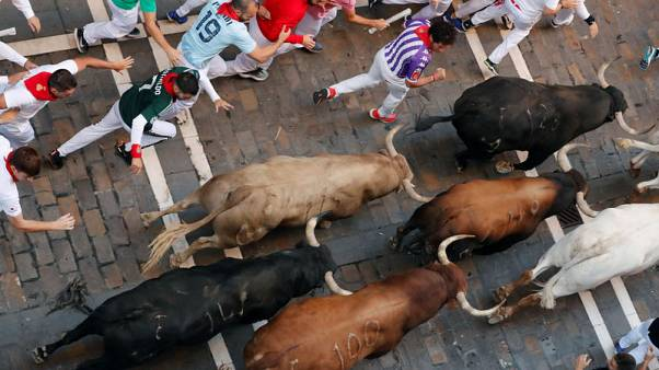 Five sent to hospital on sixth day of Pamplona bull run