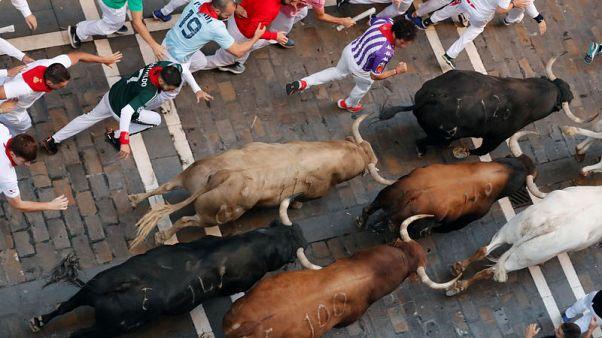 نقل 5 للمستشفى في اليوم السادس من مهرجان الثيران بإسبانيا