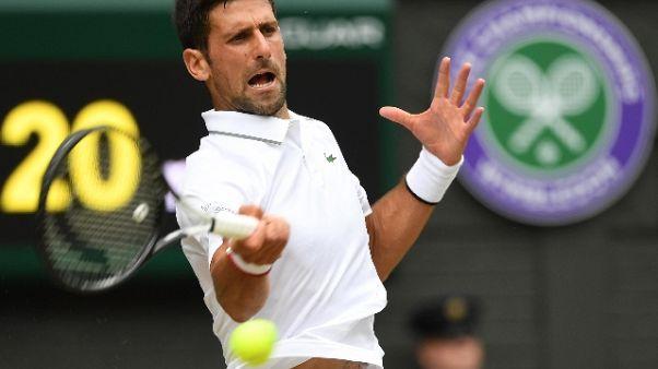 Wimbledon: Djokovic è il primo finalista