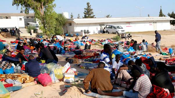 New migrants brought to Libya centre hit by deadly air strike
