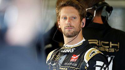 Grosjean makes light of pitlane spin