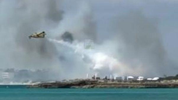 Incendio a Gallipoli, corpo carbonizzato