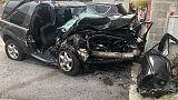 Auto si schianta in A7 a Genova,un morto
