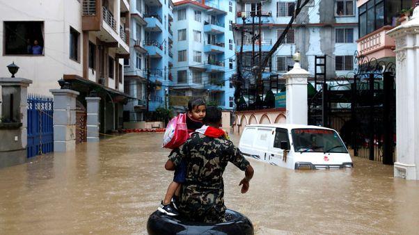 ارتفاع عدد قتلى الأمطار الموسمية في نيبال إلى 55 وآلاف النازحين
