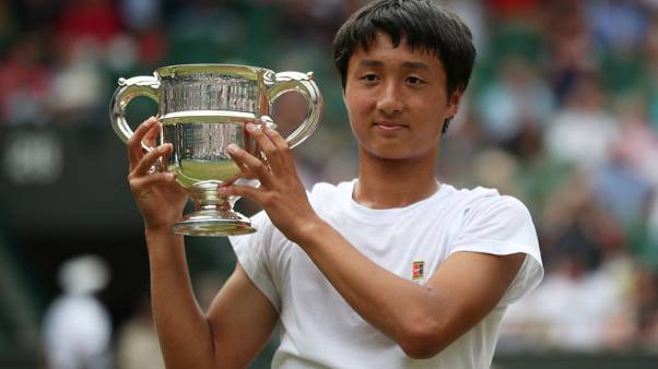 Mochizuki makes history for Japan with junior title at Wimbledon