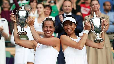 Strycova and Hseih take Wimbledon women's doubles title