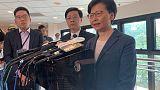 """الرئيسة التنفيذية لهونج كونج تصف المحتجين بأنهم من """"مثيري الشغب"""""""