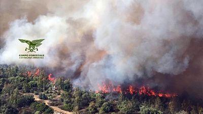 Alto rischio incendi in sud Sardegna