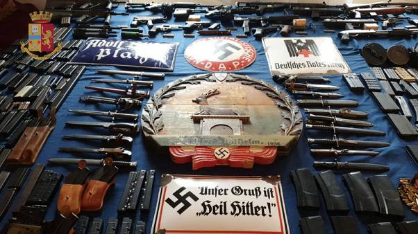 Italy seizes air-to-air missile, guns in raids on neo-Nazis