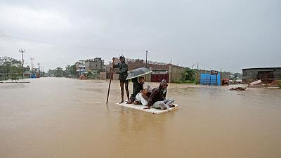 Floods worsen in India's northeast; rare rhinos in danger